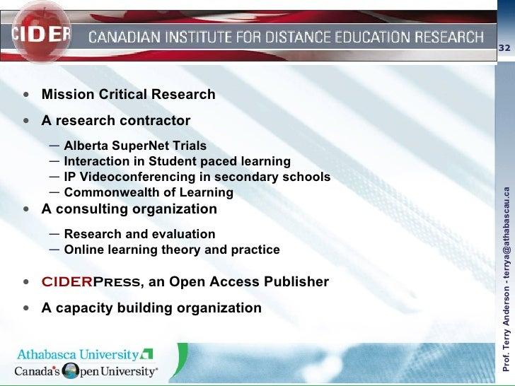 <ul><li>Mission Critical Research </li></ul><ul><li>A research contractor </li></ul><ul><ul><li>Alberta SuperNet Trials </...