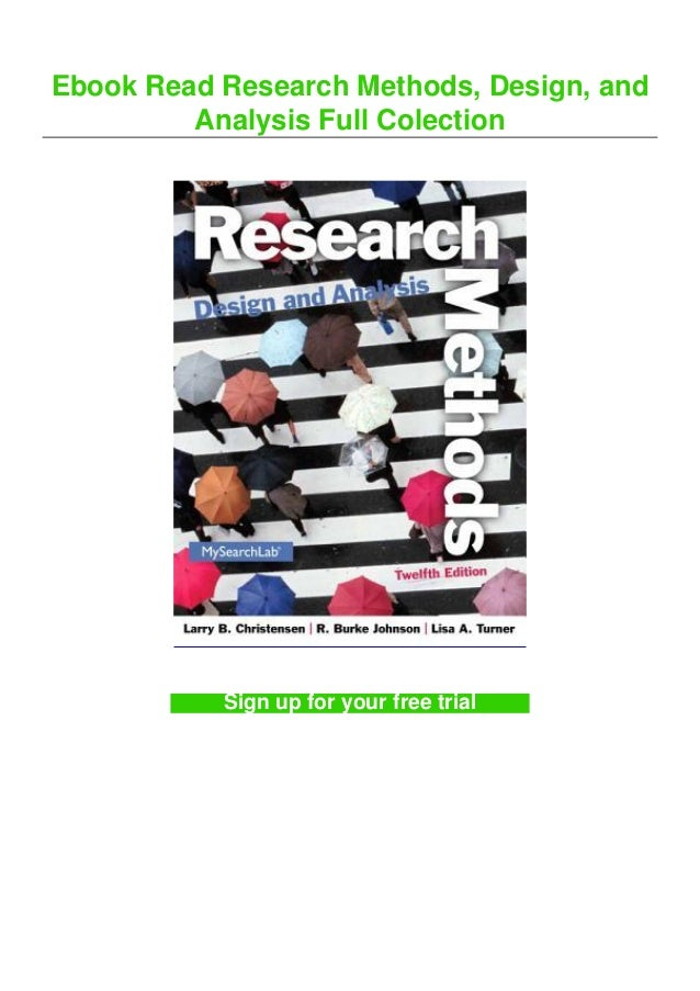 Ebook Read Research Methods, Design, and Analysis Full Colection Sign up for your free trial