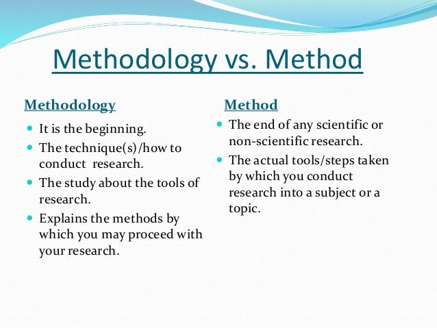 research methodology tools 3- 1 chapter three: research methodology 31 introduction the way in which research is conducted may be conceived of in terms of the research philosophy subscribed to.