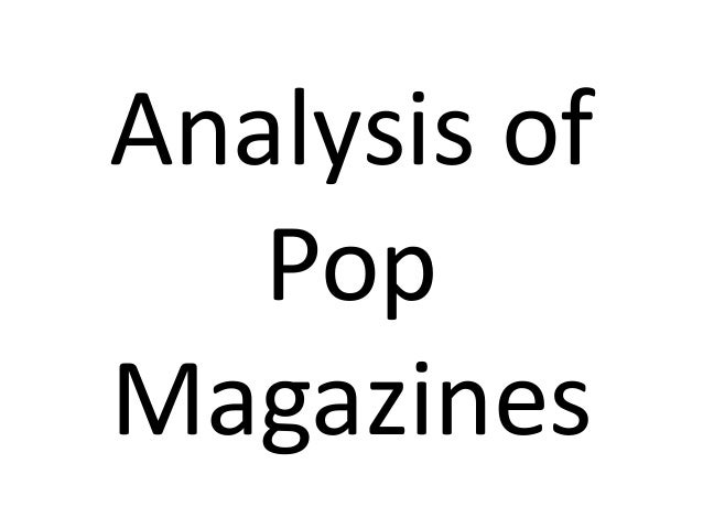Analysis of   PopMagazines