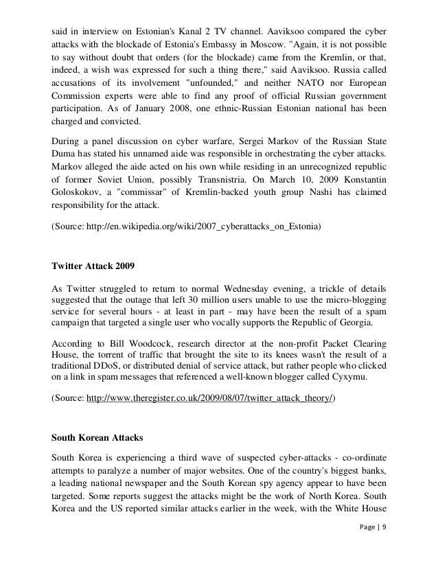 cyber war vs cyber terrorism essay Cezar vasilescu the paper explores the notion of cyber attack as a concept   zásadní důsledky pro země světa a roli nato v zajišťování efektivní kolektivní.