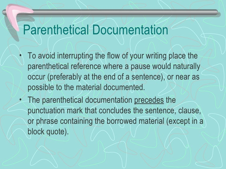 How do you make a parenthetical reference in a research paper
