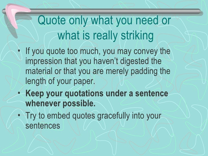 use of quotes in research papers Research quotes from brainyquote, an extensive collection of quotations by famous authors, celebrities, and newsmakers.