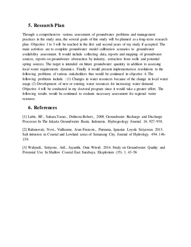 Phd research proposal water resources