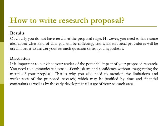 How to write a research proposal