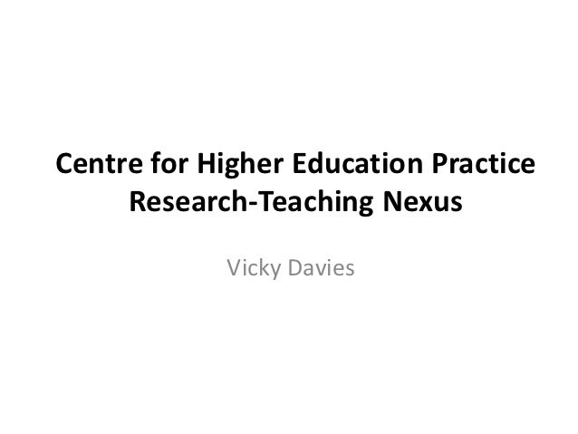 Centre for Higher Education Practice     Research-Teaching Nexus            Vicky Davies