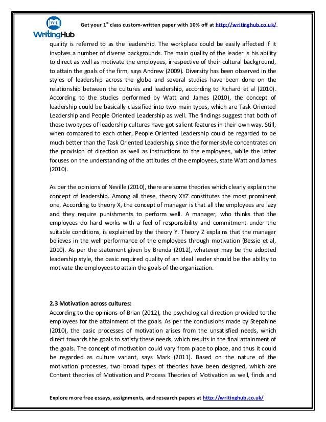 Diversity leadership essay