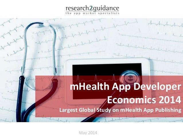 May 2014 mHealth App Developer Economics 2014 Largest Global Study on mHealth App Publishing