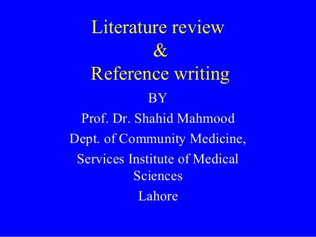 Community service literature review