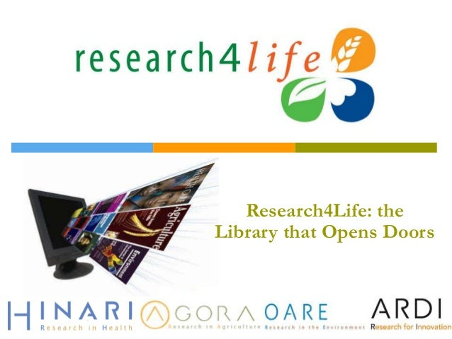 Research4Life: the Library that Opens Doors