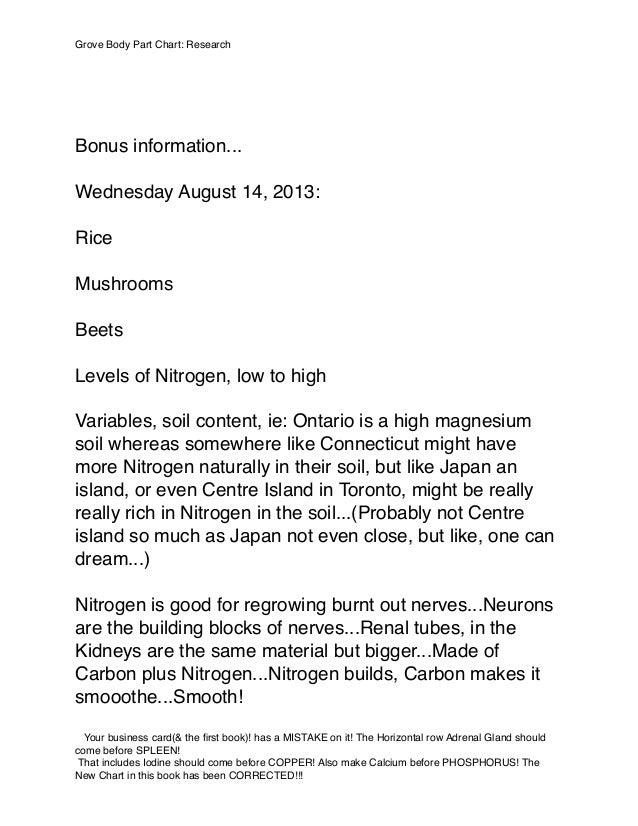 Bonus information... Wednesday August 14, 2013: Rice Mushrooms Beets Levels of Nitrogen, low to high Variables, soil conte...