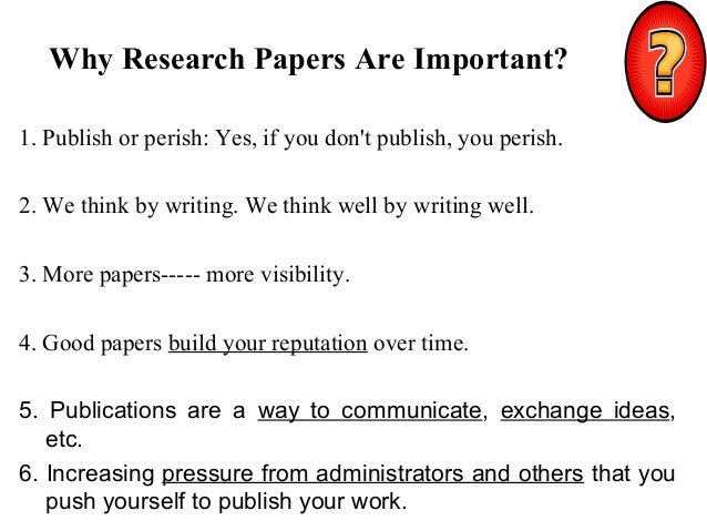 importance paper research