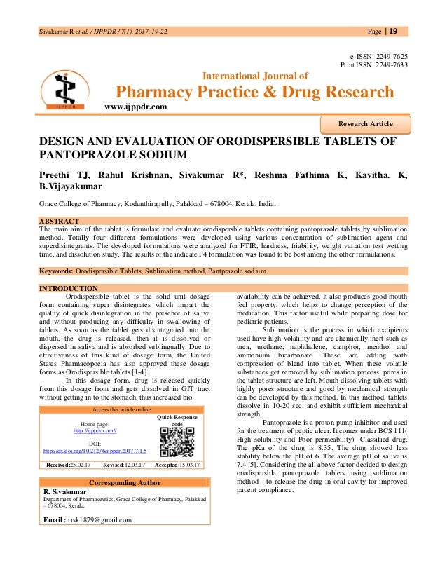 ORODISPERSIBLE TABLETS THESIS PDF