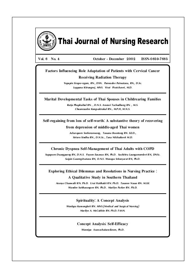 Thai Journal of Nursing Research Vol. 6 No. 4 October - December 2002 ISSN-0859-7685 Factors Influencing Role Adaptation o...