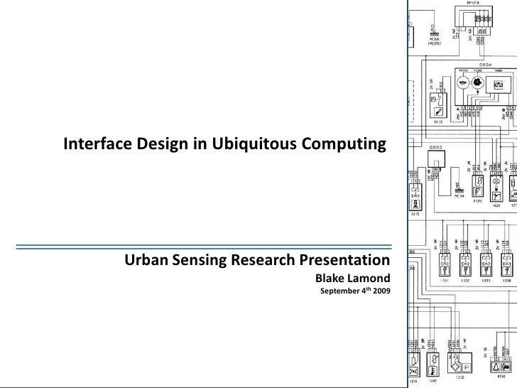 Interface Design in Ubiquitous Computing<br />Urban Sensing Research Presentation<br />Blake Lamond<br />September 4th 200...