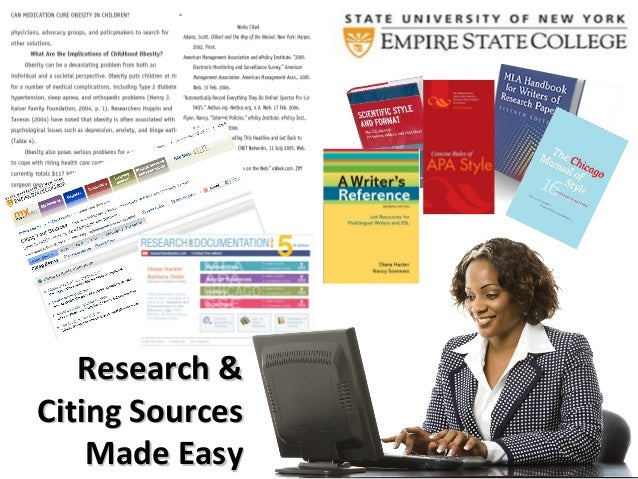 Research &Citing Sources    Made Easy