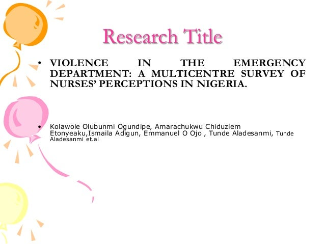 Nursing research thesis title