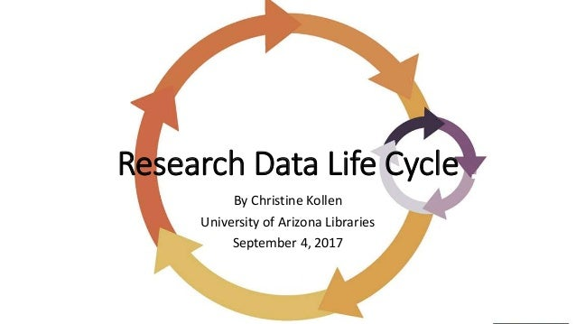 Research Data Life Cycle By Christine Kollen University of Arizona Libraries September 4, 2017