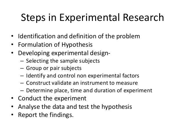 non experimental research design definition