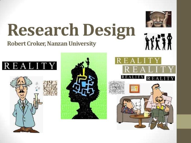 Research DesignRobert Croker, Nanzan University