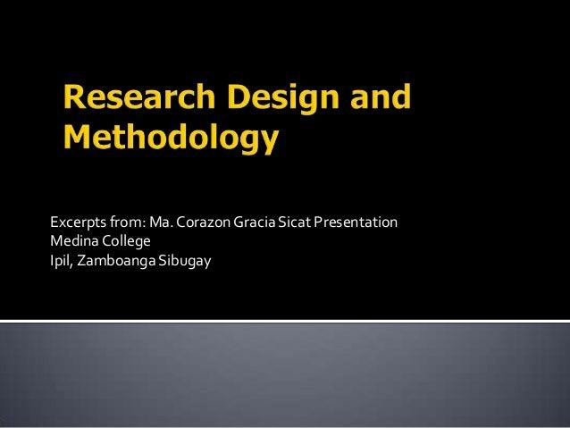 Excerpts from: Ma.Corazon Gracia Sicat Presentation MedinaCollege Ipil,Zamboanga Sibugay
