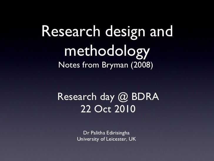 Research day @ BDRA 22 Oct 2010 <ul><li>Dr Palitha Edirisingha </li></ul><ul><li>University of Leicester, UK </li></ul>Res...