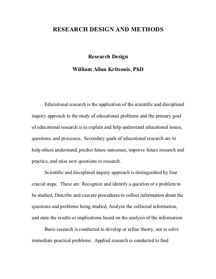 Step 7 – Dissertation Primary Research