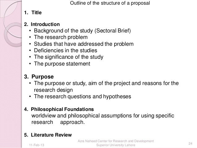 purpose about a good thesis proposal