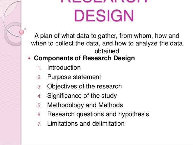 Pattern of research proposal