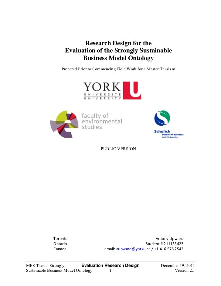 Research Design for the                   Evaluation of the Strongly Sustainable                         Business Model On...