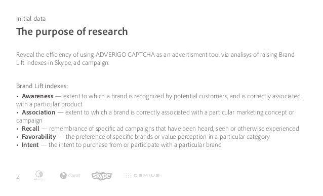 Adverigo CAPTCHA efficiency research for Skype Slide 2