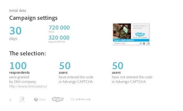 Adverigo CAPTCHA efficiency research for Skype Slide 3
