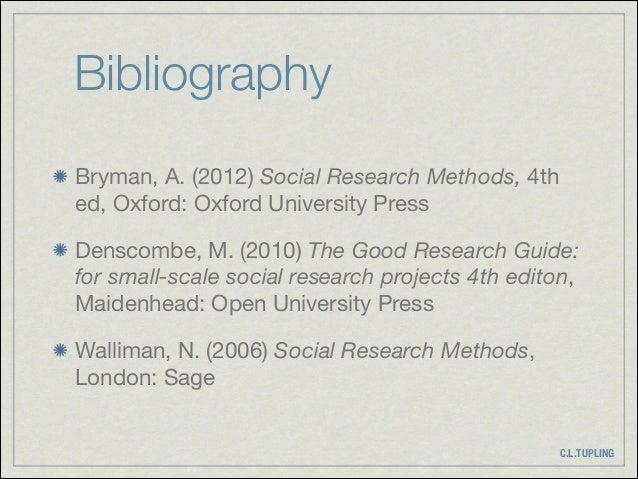 bryman a (2012) social research methods. fourth edition. oxford university press oxford