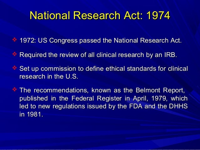 1974 national research act