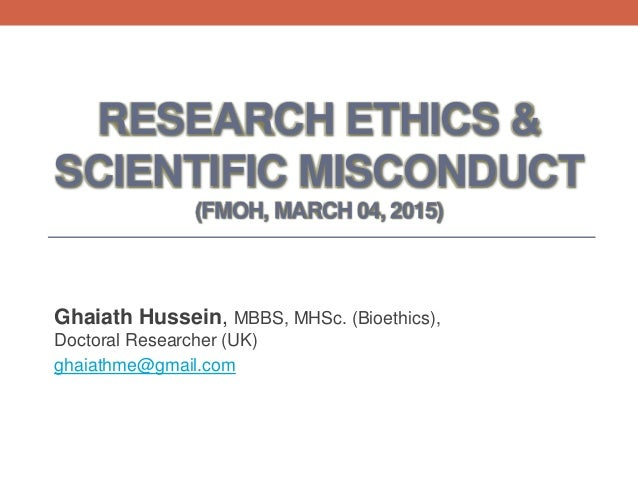 ethics scientific research Research ethics involves the application of fundamental ethical  of topics  involving research, including scientific research.