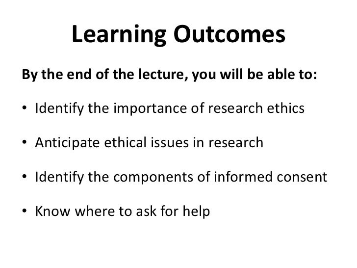 Introduction to Research Ethics Slide 3