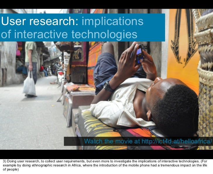 User research: implications of interactive technologies                                                         Watch the ...