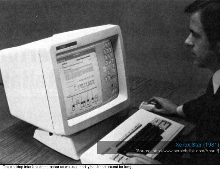 Xerox Star (1981)                                                                                  [Source: http://www.scr...