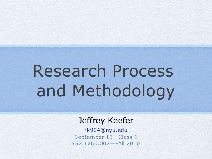 Research Process and Methodology FA10 class 1v15
