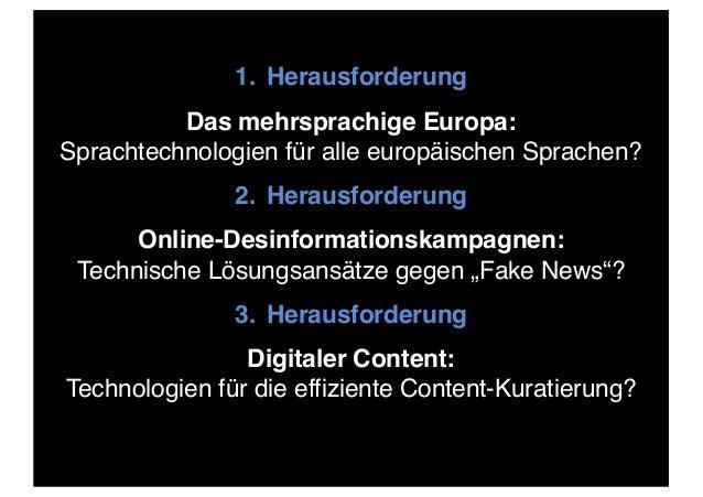 Herausforderungen und Lösungen für die europäische Sprachtechnologie- Forschung und -Entwicklung Slide 2