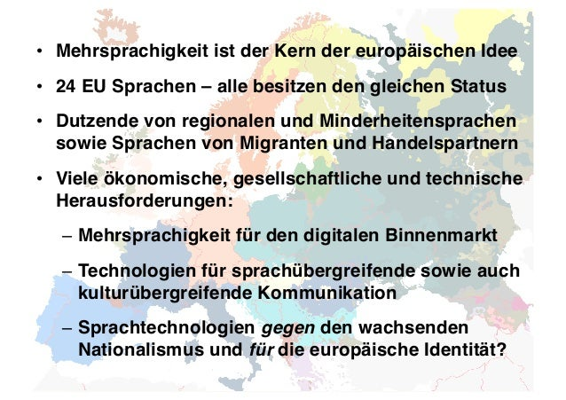 Herausforderungen und Lösungen für die europäische Sprachtechnologie- Forschung und -Entwicklung Slide 3