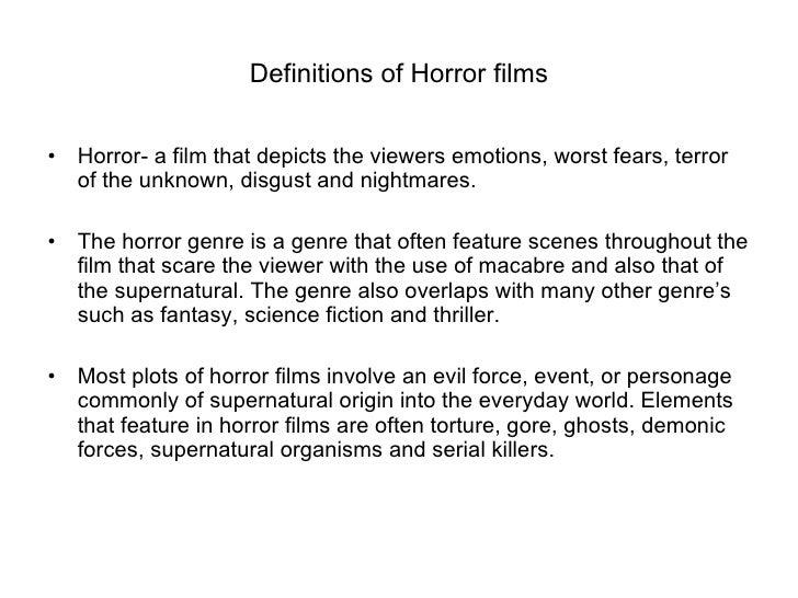 research horror genre Sample essay on horror genre free essay on the horror genre the horror genre essay example buy custom essays, custom term papers, custom research papers on any topics at essay lib.
