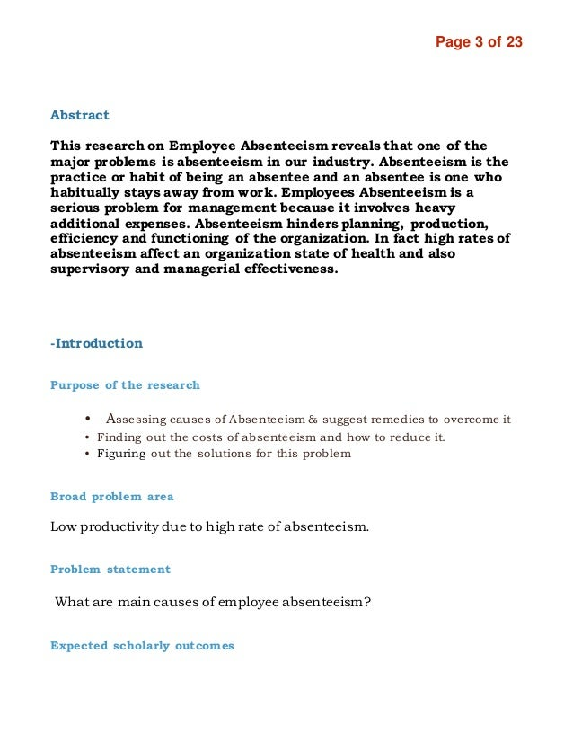causes of absenteeism International journal of instruction j anuary 20 16 vol9, no e-issn: 1308-1470 wwwe-ijinet p-issn: 1694-609x causes of student absenteeism and school dropouts.