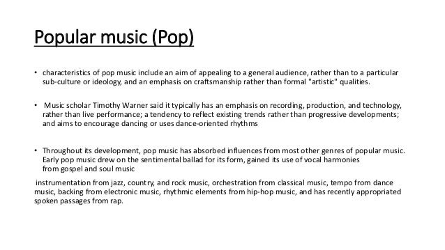 Research for music genres- By Rachel Thompson