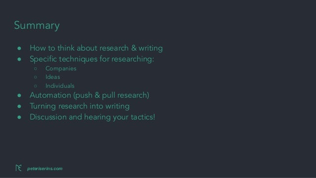 Research for writers Slide 2