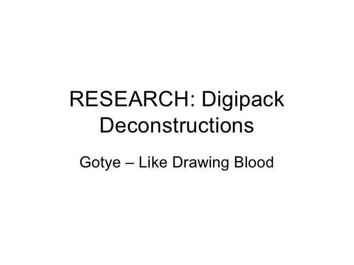 RESEARCH: Digipack  DeconstructionsGotye – Like Drawing Blood