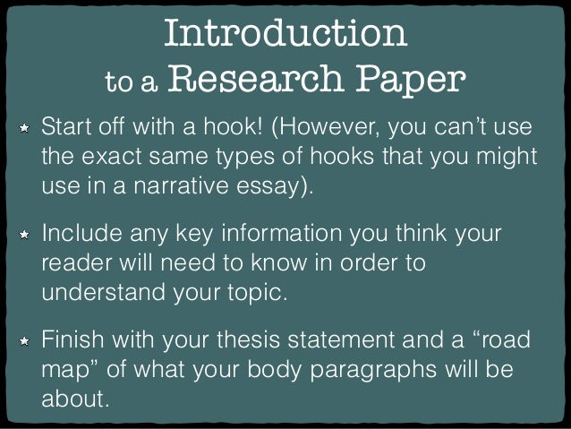 How to write introductory paragraph for research paper