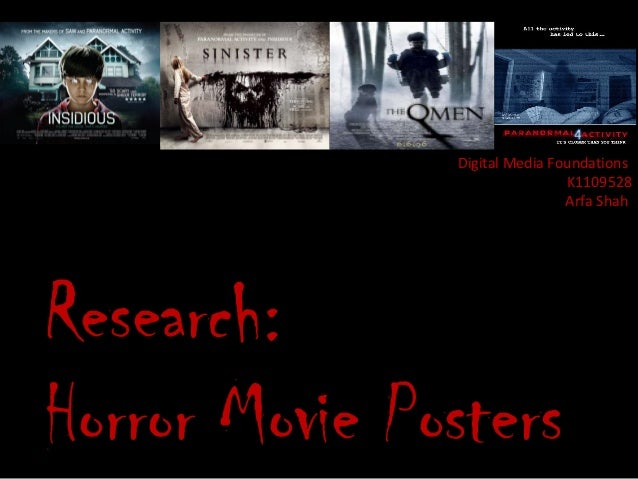 Digital Media Foundations                               K1109528                               Arfa ShahResearch:Horror Mo...