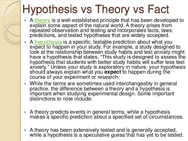 Hypothesis vs theory vs fact skinhead research paper