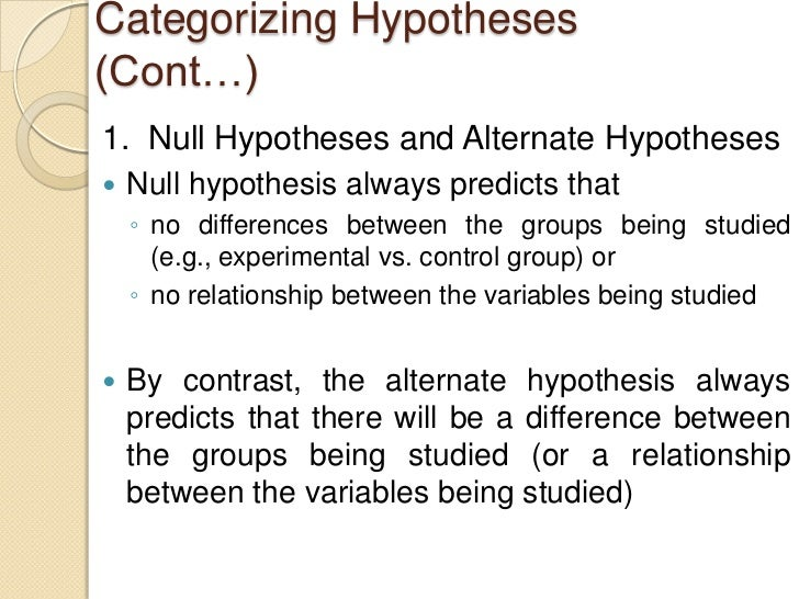 null hypothesis explained